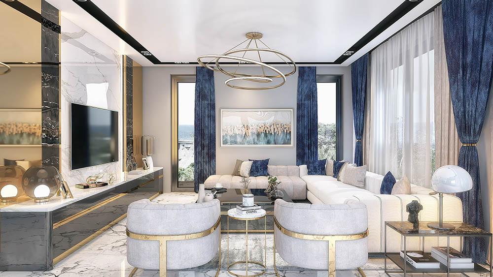 Thiết kế phòng khách biệt thự với tầm nhìn tuyệt đẹp
