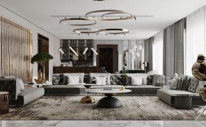 Phòng khách thượng lưu thể hiện trong từng mẫu nội thất độc đáo