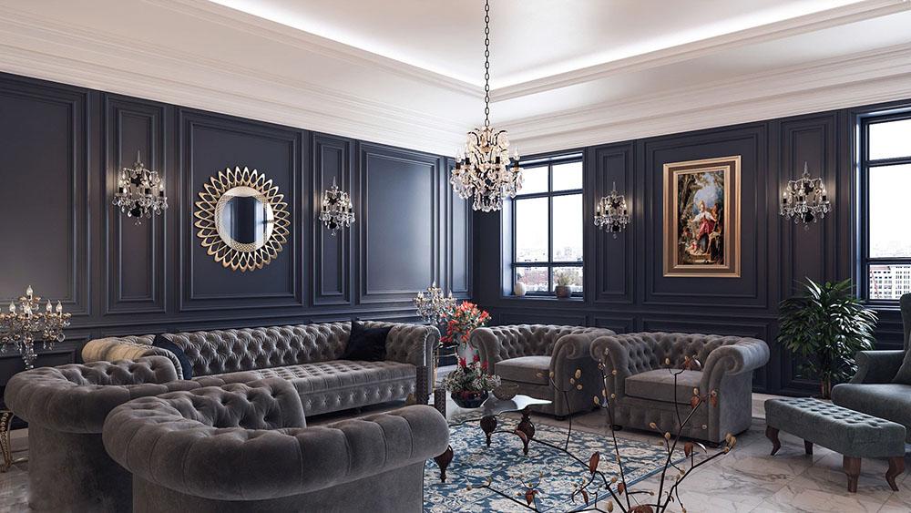 Nét đẹp quý tộc trong từng thiết kế nội thất với hoa văn châu Âu