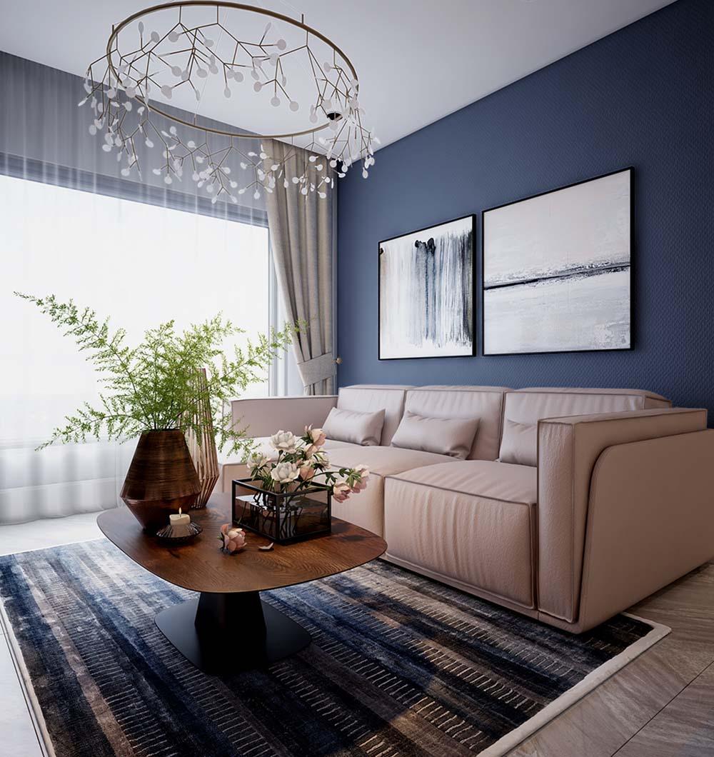 Không gian mở giúp phòng khách rộng rãi hơn