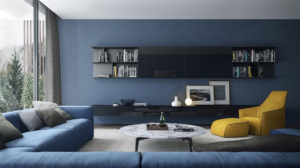 Thiết kế không gian mở ấn tượng với màu sắc cá tính