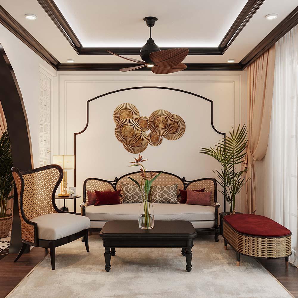 Không gian nhỏ của phòng khách chung cư được bài trí sang trọng