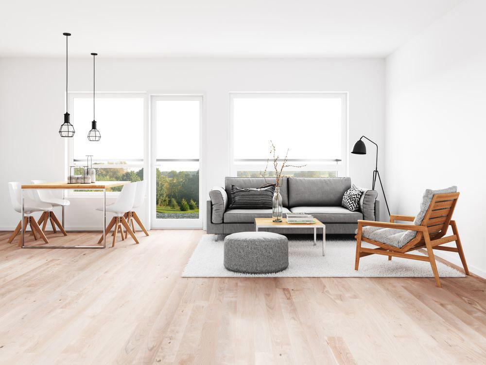 Màu trắng mang đến sự tối giản và mộc mạc cho thiết kế
