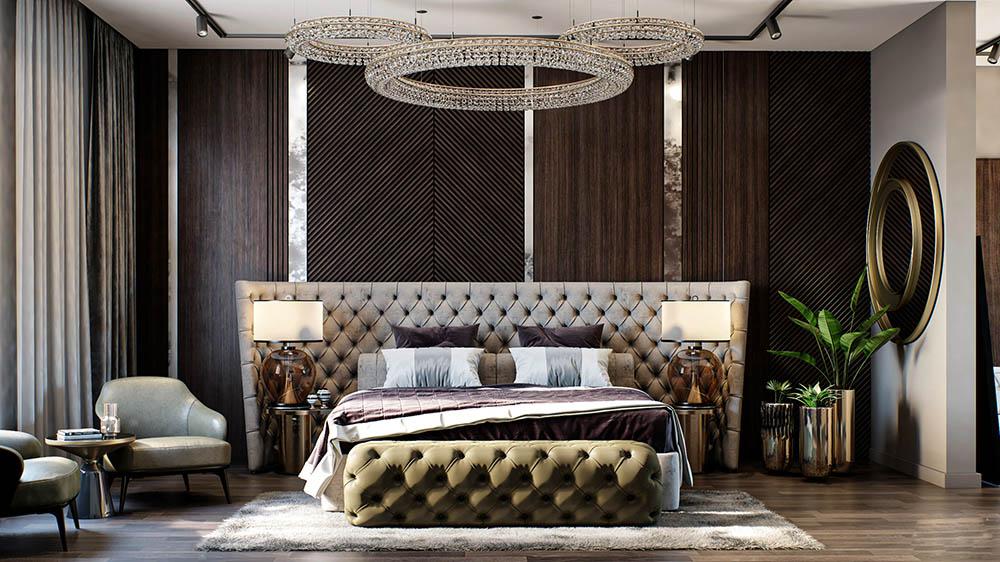 Phòng ngủ ấn tượng với nét đẹp cao quý và xa hoa nhất