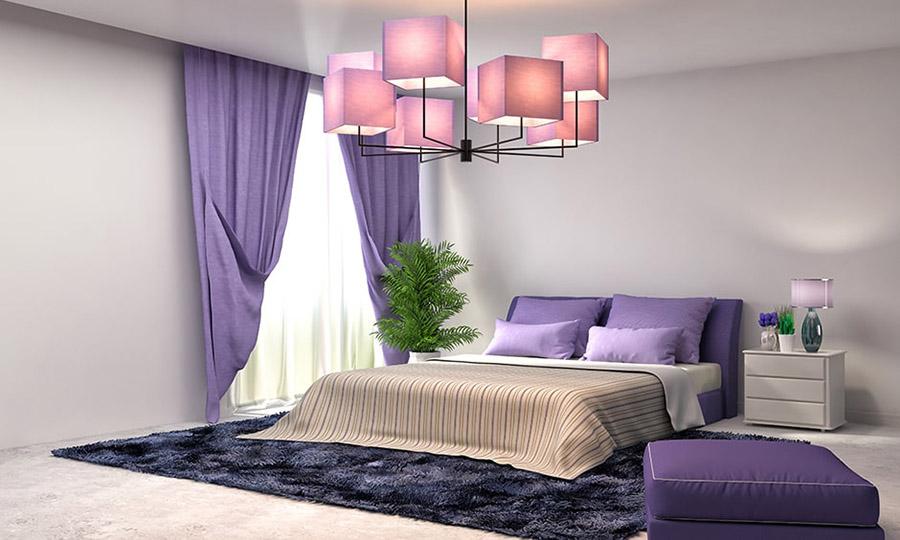 Phòng ngủ sử dụng nội thất tạo nên sự ấn tượng
