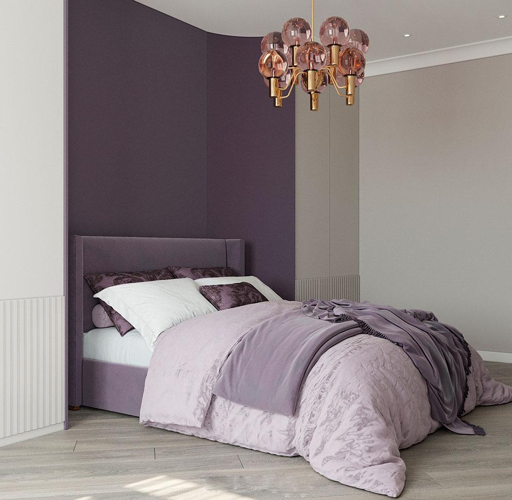 Sự kết hợp màu sắc tạo nên sự tương phản ấn tượng và độc đáo cho căn phòng