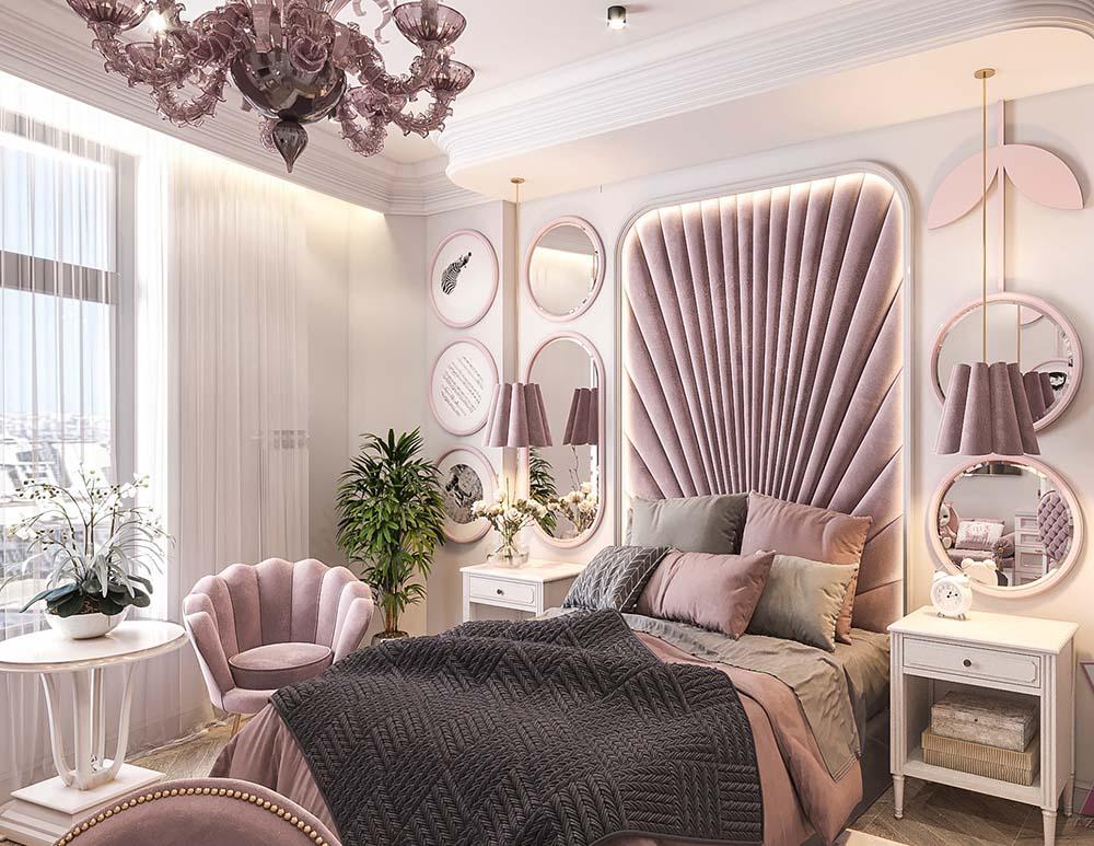 Thiết kế đầy tính lãng mạn với màu tím hồng ngọt ngào