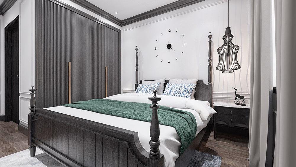 Yếu tố hiện đại trong phòng ngủ Đông Dương