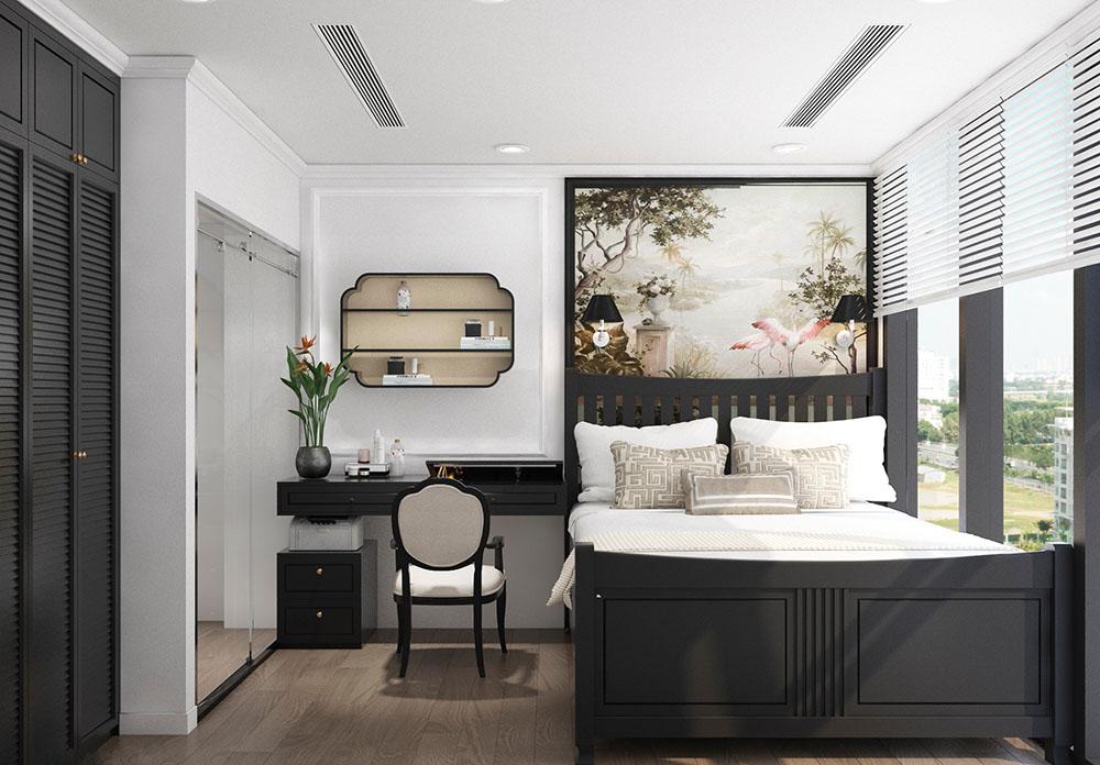 Thiết kế phòng ngủ với hoa văn độc đáo đầy tính mỹ thuật