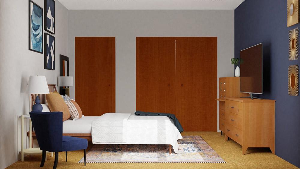 Thiết kế phòng với gam màu đậm siêu cá tính