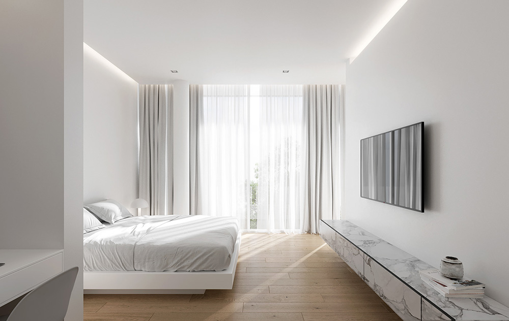 Tinh giản nội thất giúp phòng ngủ thông thoáng và rộng rãi