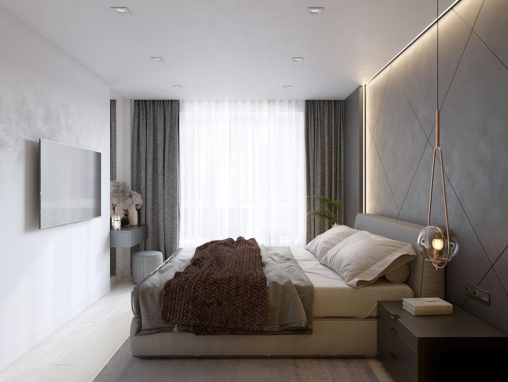 Cách bố trí đơn giản giúp phòng ngủ rộng hơn