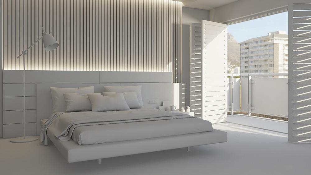 Gam màu trắng giúp phòng ngủ nhỏ thêm thông thoáng