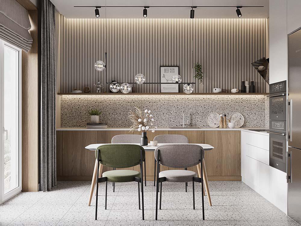 Tủ bếp phong cách Bắc Âu tinh tế sang trọng cho không gian sống