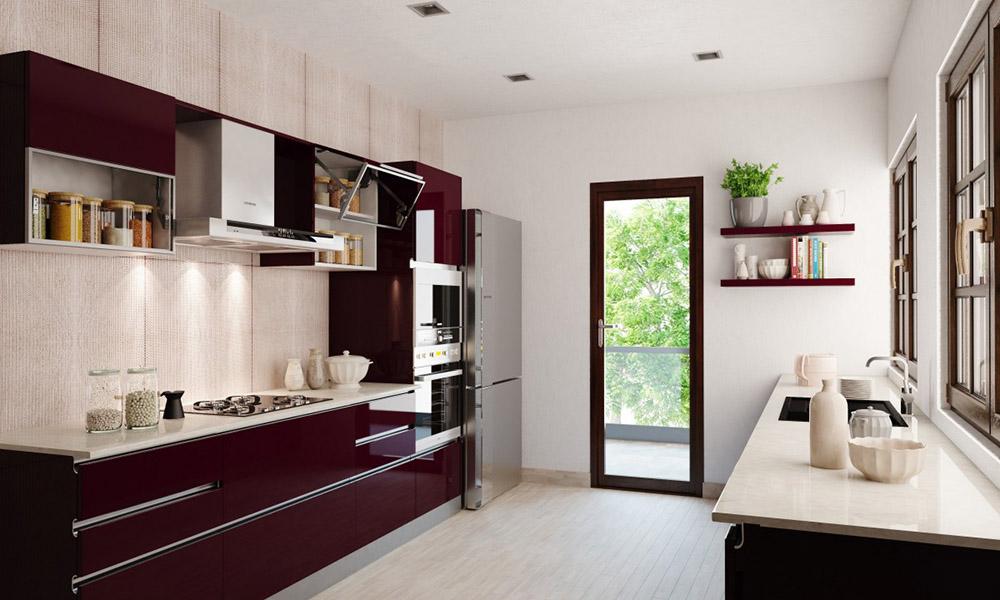 Hai tủ bếp đối diện nhau mang tới không gian siêu tiện nghi và linh hoạt