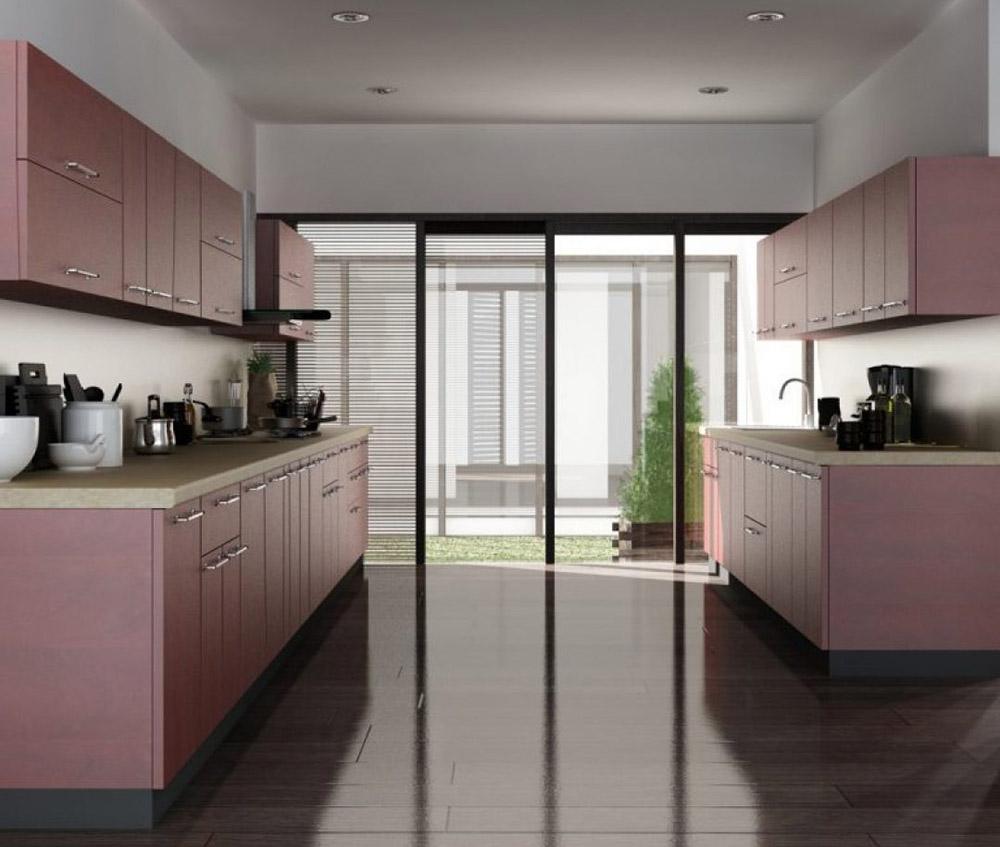 Tủ bếp màu hồng cá tính và đẹp mắt cho không gian sống