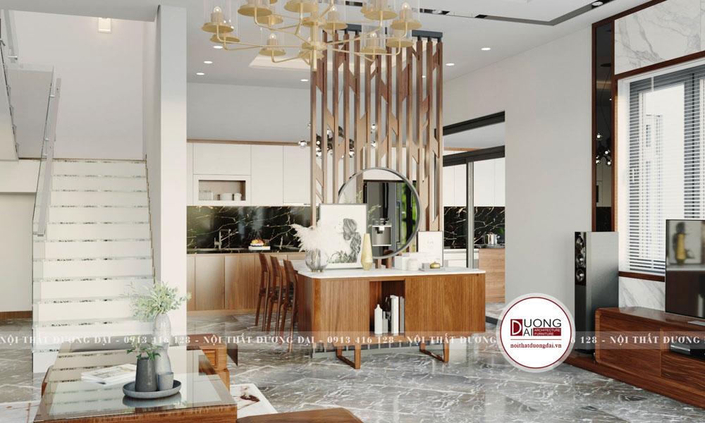 Thiết kế nội thất nhà 8,5m x 13,5m | CĐT: Anh Hải Đông Anh