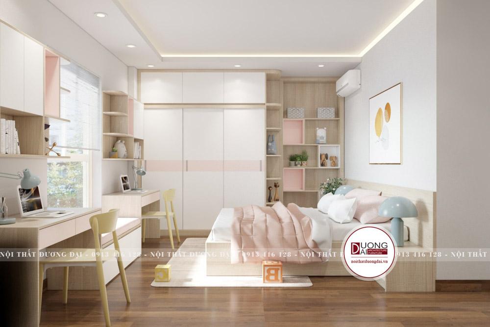 Thiết kế phòng ngủ siêu tiện nghi với tủ quần áo lớn