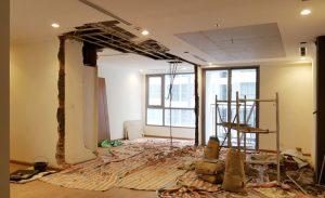Phá dỡ bức tường để cơi nới không gian khi cần thiết