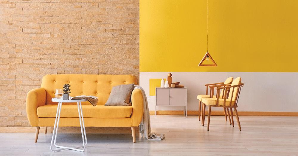 Không gian đầy cá tính và phong cách với màu vàng tươi