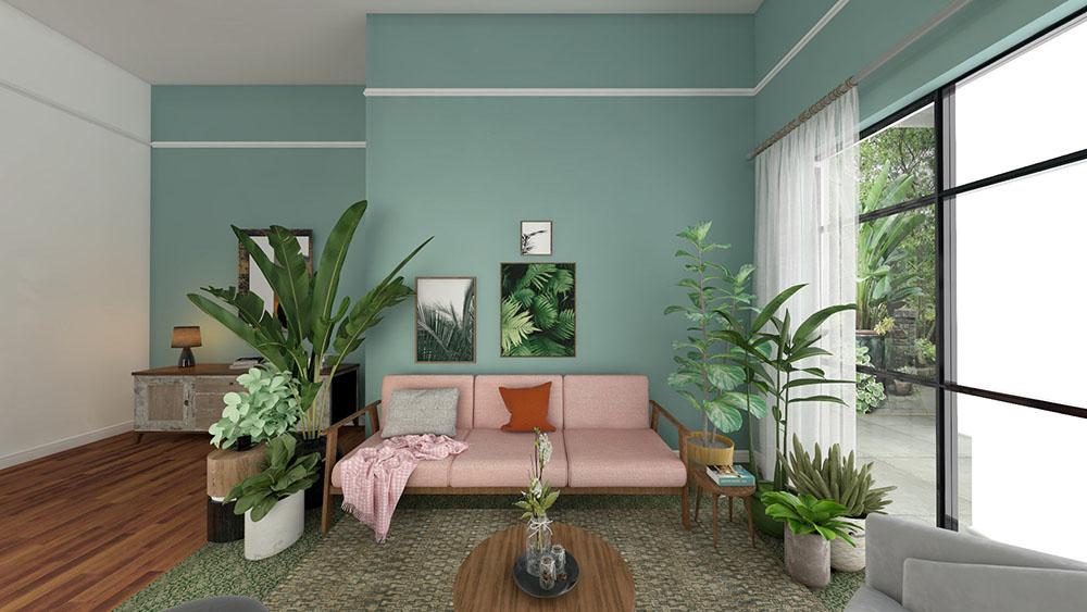 Thiết kế không gian đậm chất nhiệt đới cho nơi tiếp khách