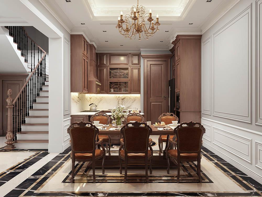 Tủ bếp làm từ gỗ Lim xứng đáng là sự lựa chọn hàng đầu