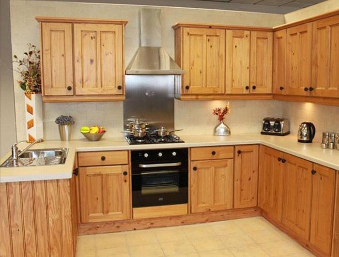 Thiết kế tủ đơn giản nhưng đảm bảo sự tiện nghi với màu gỗ sáng