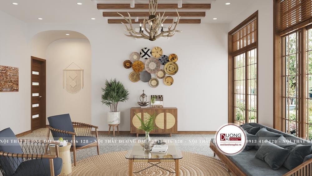 Cách trang trí phòng khách đầy tinh tế và đậm nét văn hóa Á Đông