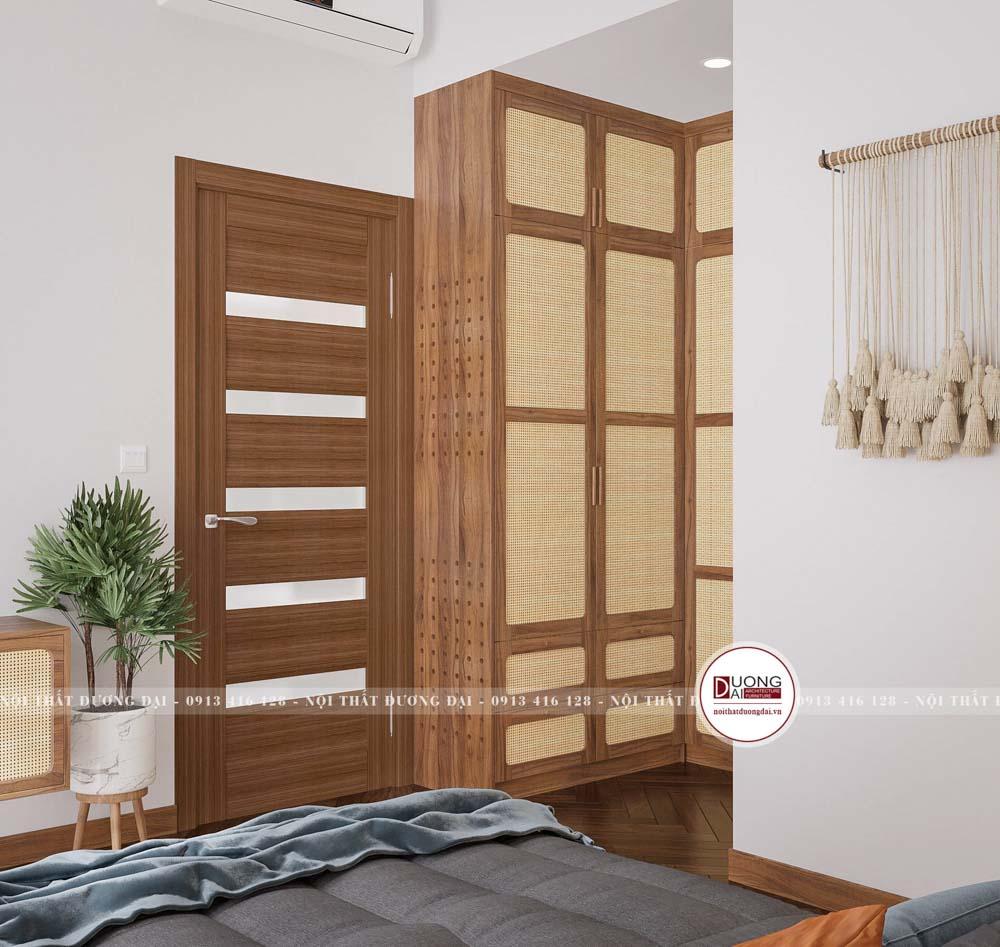 Tủ quần áo chữ L tận dụng diện tích trong phòng ngủ