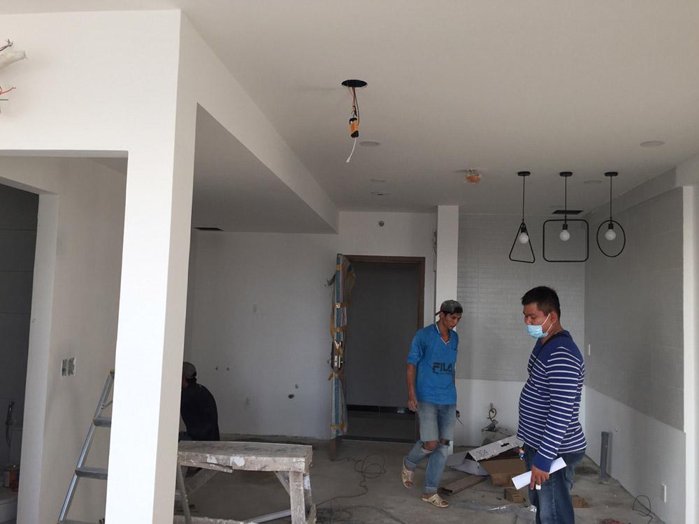 Bố trí công năng từng phòng và tiến hành triển khai điện nước