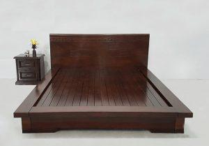 Giường ngủ từ gỗ muồng đen với kiểu dáng hiện đại