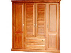 Tủ quần áo từ gỗ chò với kiểu dáng hiện đại, sang trọng
