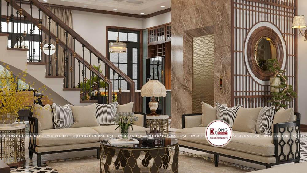 Phòng khách Đông Dương với nét đẹp tinh tế và trang nhã