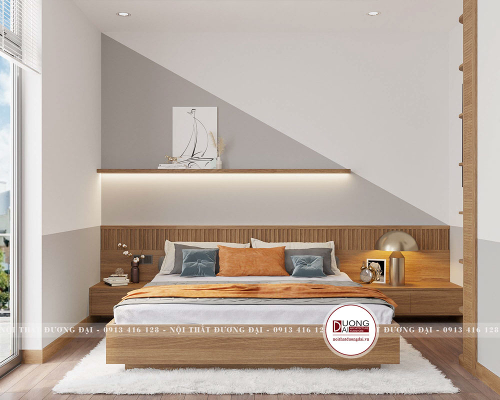 Thiết kế phòng ngủ cho bé với gam màu tươi sáng, tinh nghịch