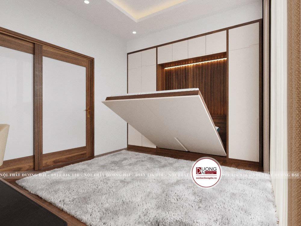 Giường ngủ có thể nâng lên đặt âm tủ khi không sử dụng