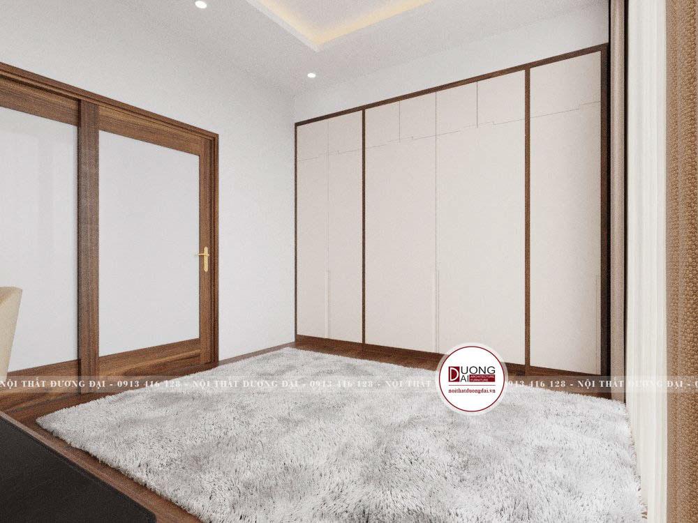 Không gian rộng rãi trong phòng có thể dùng để vui chơi hoặc ngồi thưởng trà