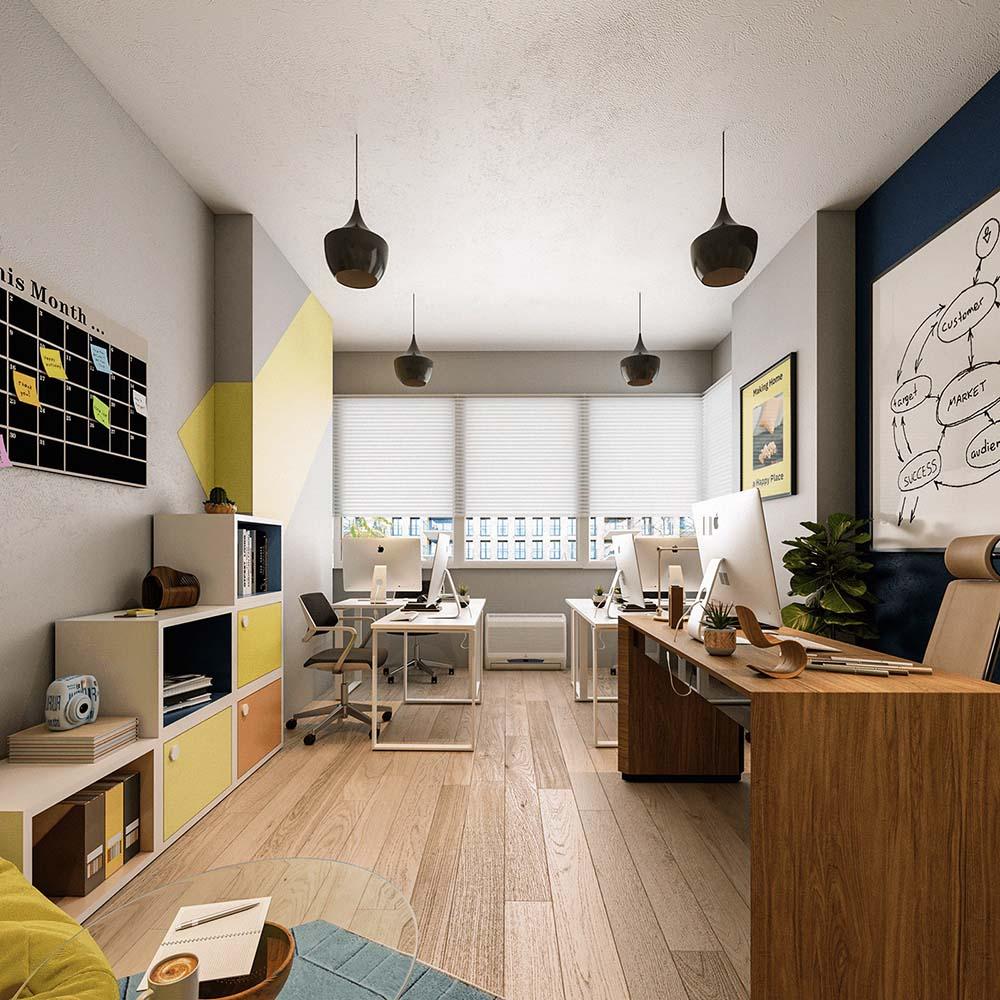 Thiết kế văn phòng 15m2 đẹp sang trọng và siêu tiện nghi