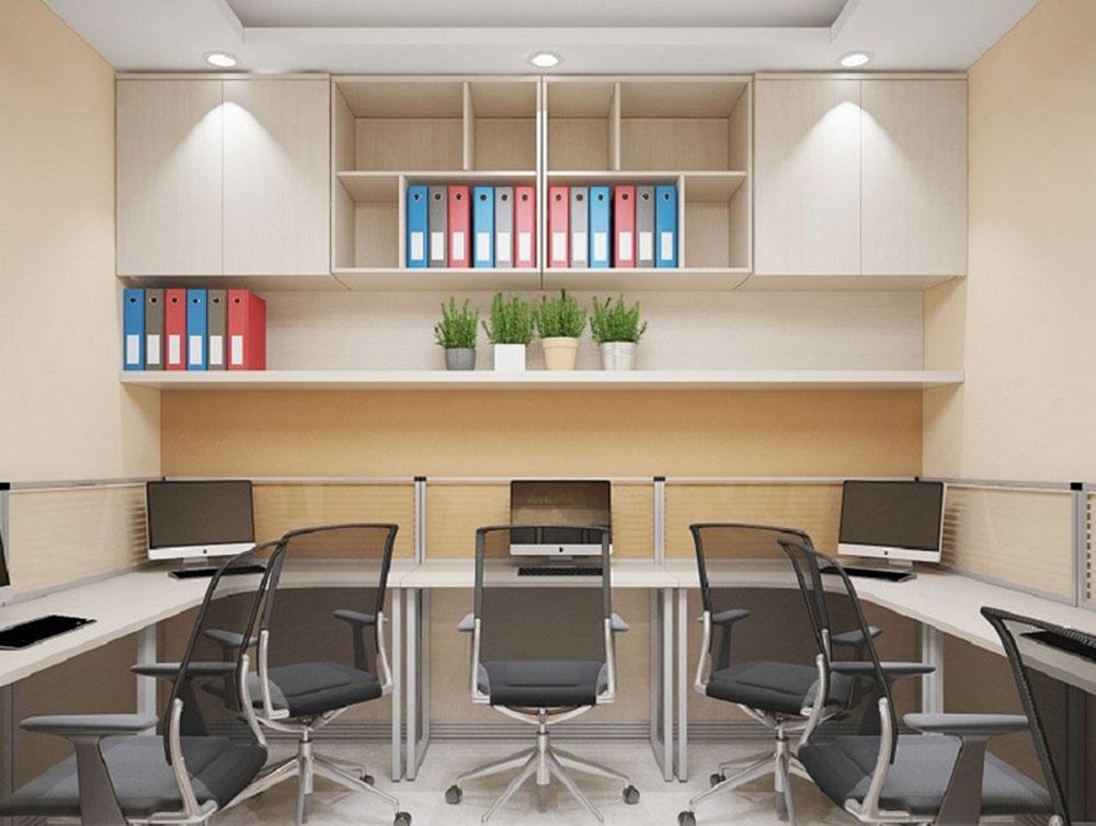 Giá sách kết hợp kệ trang trí đẹp cho không gian làm việc