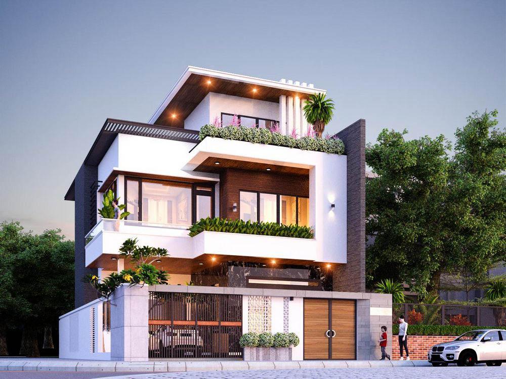 Biệt thự 3 tầng mái bằng | 21+ Thiết kế kiến trúc độc đáo nhất