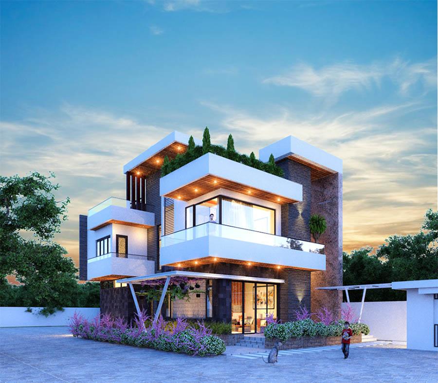 Thiết kế nhà nhỏ đơn giản nhưng kiến trúc có tính mỹ thuật rất cao