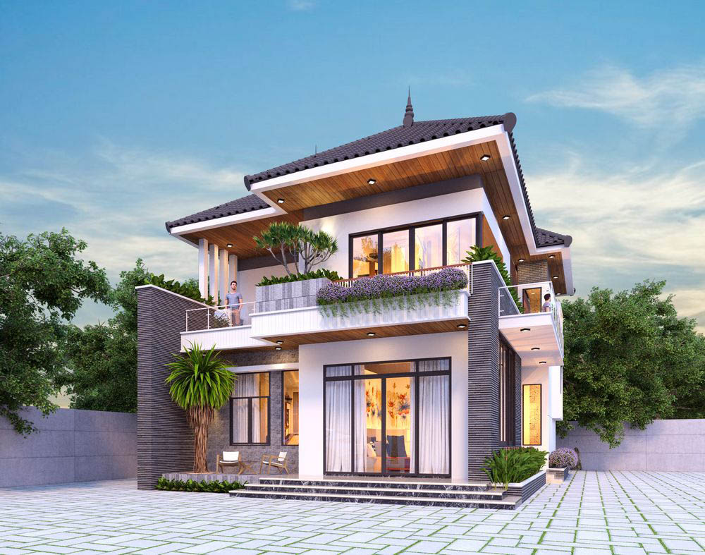 Kiến trúc siêu hiện đại với mái Nhật trang nhã và sang trọng