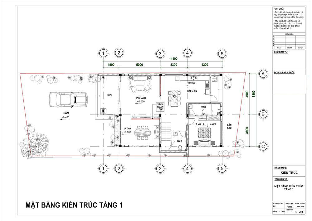 Biệt thự 3 tầng 5 phòng ngủ tiện nghi với kiến trúc độc đáo