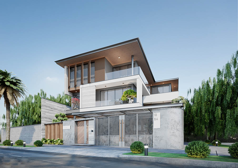Biệt thự mini nhỏ với kiến trúc hiện đại và độc đáo