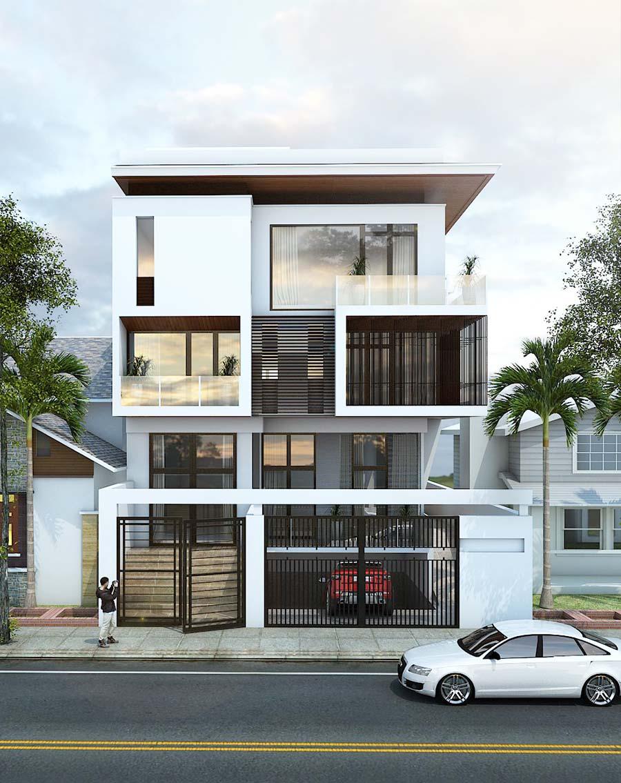 Kiến trúc biệt thự mini đơn giản nhưng rất hiện đại