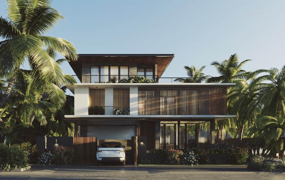 Kiến trúc siêu hiện đại và độc đáo với gara ô tô đơn giản