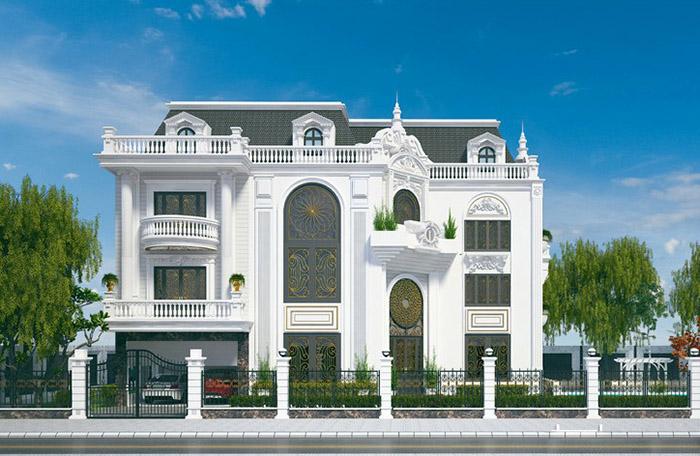 Biệt thự 3 tầng kiểu châu Âu kiến trúc ấn tượng đẳng cấp nhất