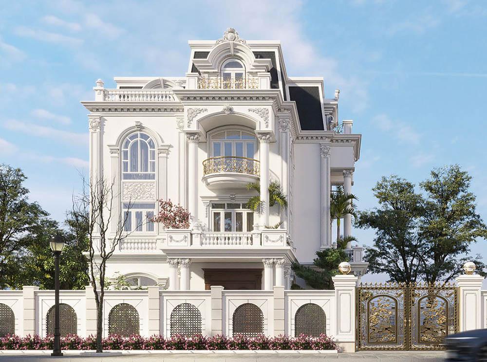 Thiết kế biệt thự đẹp với sân vườn xanh mát bao quanh