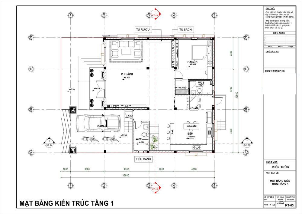 Mặt bằng công năng tầng 1 với phòng khách siêu rộng rãi