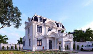 Kiến trúc biệt thự tân cổ điển siêu nguy nga tráng lệ