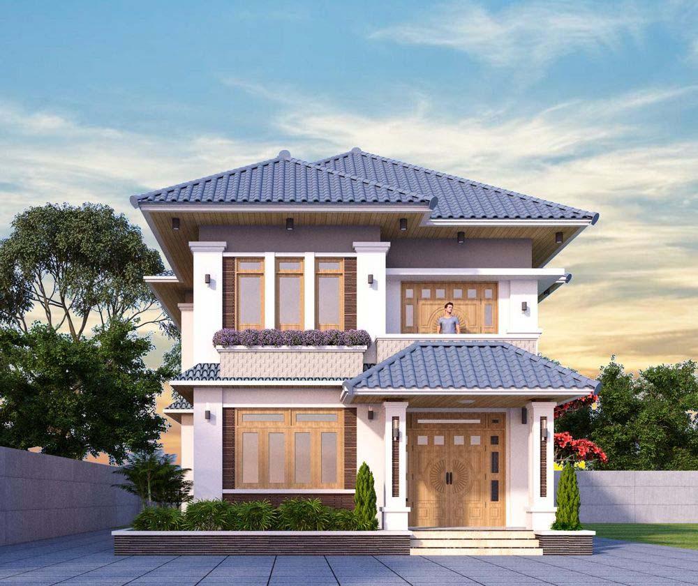 Kiến trúc biệt thự mái Nhật trang nhã sang trọng